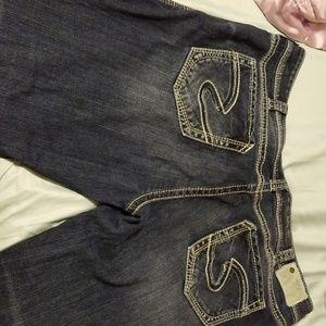 Plus size 24 short SILVER jeans
